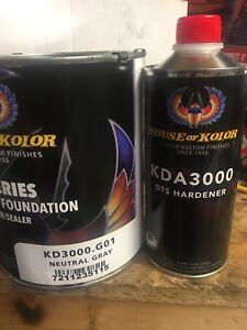 House Of Kolor Gallon Kit Gray Color Kd3000 Dts Surfacer Hardener Epoxy