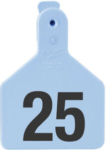 Z Tags Calf Ear Tags Blue Numbered 126 150