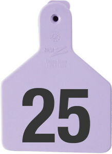 Z Tags Calf Ear Tags Purple Numbered 26 50