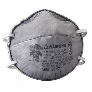 Dust Mask 8247 Relief Against Nuisance Levels Of Organic Vapors 20 Count