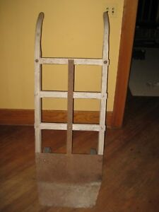 Thomas Keokuk Iowa Antique Vintage 2 Wheel Hand Truck Cart Dolly Wooden Iron
