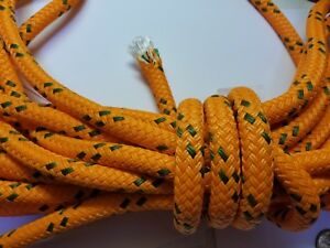 40 Ft Orange Braided Polyester 1 2 Arborist Rigging Tree Bull Rope Anchor