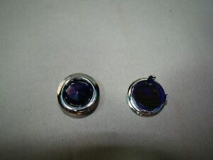 Blue Dot Inserts With Chrome Ring Tail Light Blue Dots Glass Blue Dots Lights