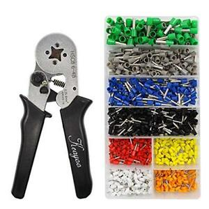 Crimp Tool Kit 1300pcs 0 25 6 0mm2 Insulated Electrical Cord Pin End Terminals