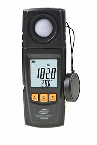 Handheld Temperature Light Lux Meter Luminometer 2in1 Rotated Sensor Datalog Usb