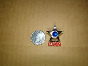 Blue Vintage Style Safety Star Pin Safety Star Hat Pin Safety Star Jacket Pin