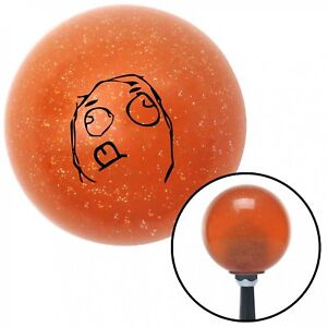 Black Concentrated Orange Metal Flake Shift Knob With 16mm X 1 5 Insert