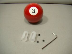 Vintage Style 3 Pool Ball Shifter Lever Knob Covers Red Shifter Knob Handle