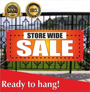 Store Wide Sale Banner Vinyl Mesh Banner Sign Flag Many Sizes Retail Discounts