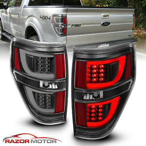 2009 2014 Black Led Bar Tail Light Pair For Ford F150 F 150 Stx Xl Xlt