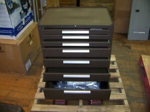Kennedy Mfg 7 Drawer Rolling Tool Cabinet W Wheels Handle Brown W Keys 84030