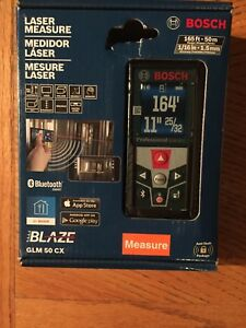New Bosch Glm 50 Cx 165 Laser Measure Bluetooth Free Shipping