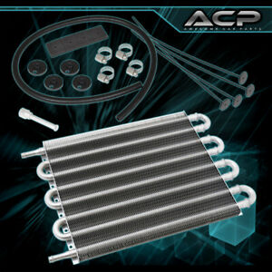 12x10x0 75 High Performance Universal Power Steering Tranny Oil Cooler Silver