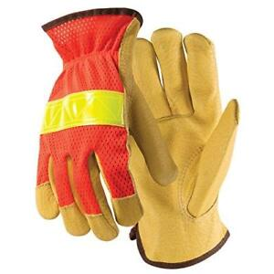 Wells Lamont Y0325m Industrial Leather Pigskin gloves pack Of 12 Medium Safe
