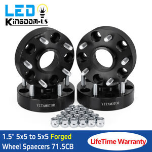 4x 5x127 To 5x5 Hubcentric Wheel Spacers Fits Wrangler Grand Cherokee Jk Off