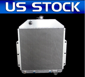 3 Rows 1948 1949 1950 Ford F1 Pickup Truck W Chevy V8 Aluminum Radiator
