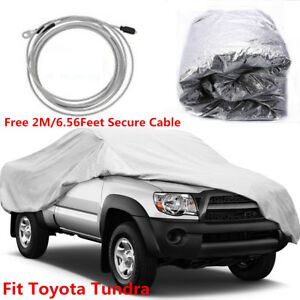 Full Truck Cover For Toyota Tundra Waterproof Dustproof Car Cover Indoor outdoor