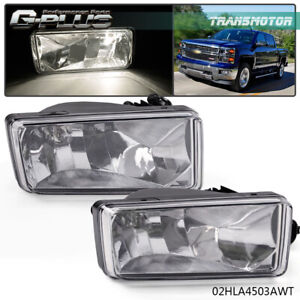 2pcs Fog Lamp Light Clear Lens Bulb For 2007 2014 Chevy Silverado