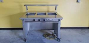 3 Well Electric Hot Steam Table 208v Topshelf Prep table Tray Table