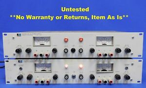 Agilent Hp Keysight 6253a Power Supply 2 Units Untested Item As Is
