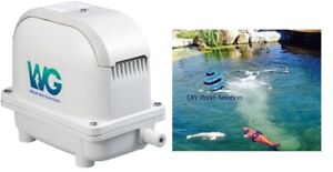 New 2 75 Cfm Hiblow Fish Pond Aeration Septic Pump 1 4 Acre Ponds Or 24 000gal