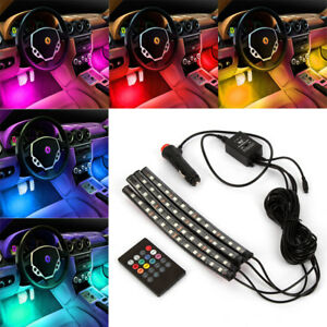 48 Led Car Charge Interior Accessories Atmosphere Lights Floor Decorative Lamp