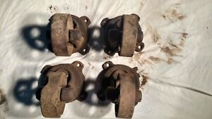 4 Antique Vintage Matching Cast Iron Industrial Caster Cart Wheels 6 Inch