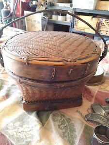 Antique Chinese Sewing Basket