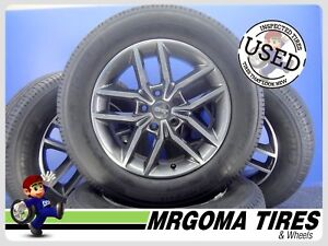 4 Original Jeep Grand Cherokee 18 18x8 5x127 Wheels Rims Tires Oem 265 60 18