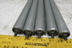 32 3 4 Bf 1 3 8 Od Gravity Conveyor Roller 5 8 Hex Axle Lot Of 5