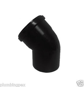 Centrotherm Polypropylene Isel0645uv 6 Black 45 Elbow U v Stabilized