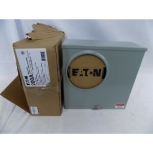 Eaton Ubhtrs223arhch Meter Socket Teel Outdoor Enclosed 200a 600vac 1ph Ringless