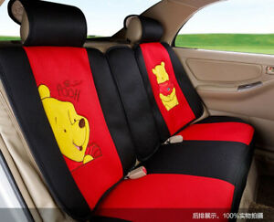 18 Piece Red Winnie The Pooh Car Seat Covers