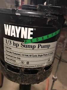 1 3 Hp Sump Pump Motor With Switch 120v Spv 500 Tested Wayne