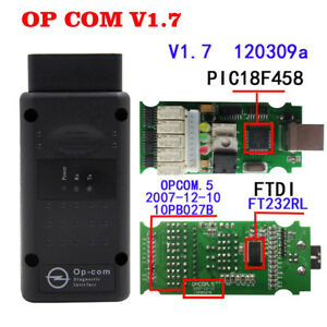 Opcom Op Com Firmware V1 7 Software 120309a 2014v Obd2 For Opel With Pic18f458
