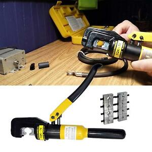 6 Ton Hydraulic Wire Terminal Crimper Battery Cable Lug Crimping Tool With 8 Die