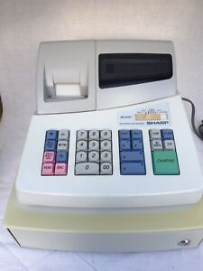 Sharp Electronic Cash Register Model Xe a101 With Key