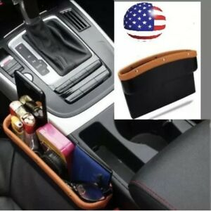 Car Seat Pocket Organizer Caddy Catcher Gap Filler Car Truck Suv Us Stock Beige