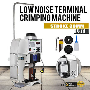 1 5t Super Mute Terminal Wire Crimping Machine With Otp Single Mold 110v