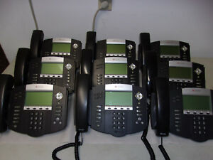 Lot Of 9 Polycom Soundpoint Ip 550 Sip 2201 12550 001 Reset