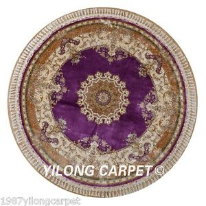 Yilong 7 2 X7 2 Oriental Silk Rugs Hand Made Carpets Round Hand Knotted 1611