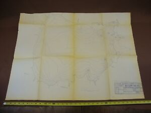 Vintage 1952 Map Of Mille Lacs Lake Minnesota