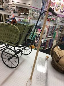 Antique Wicker Baby Buggy Stroller Carriage Vintage