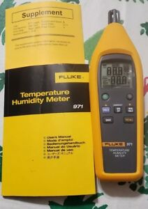 Fluke 971 Temperature Humidity Meter out The Box New