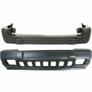 Front Rear Bumper Cover Set For 1996 1998 Jeep Grand Cherokee Laredo Textured