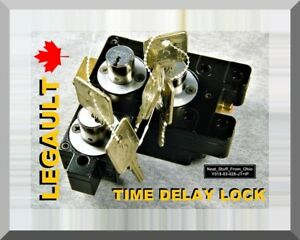 Legault Time Delay Key Lock With Five Keys Canadian Mfg Anti robbery Device