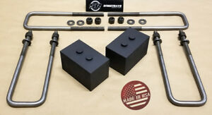 sr F 150 04 18 Billet 3 Rear Lift Leveling Block 2wd 4wd Black U Bolts Kit