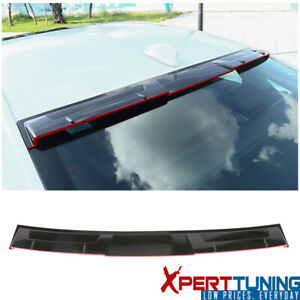Fits 18 19 Honda Accord Ikon Style Rear Roof Spoiler Gloss Black Red Lip Abs