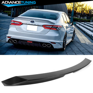 Fits 18 19 Toyota Camry Pb Style Rear Trunk Spoiler Matte Black Primer Abs