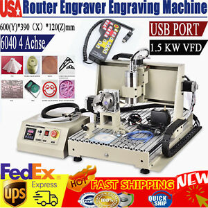 Usb 4 Axis 6040 Cnc Router Engraver Engraving Milling drill Carving Machine Rc